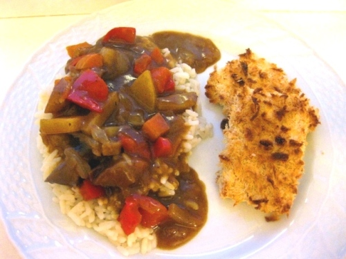 Japanese curry kare tofu cutlets
