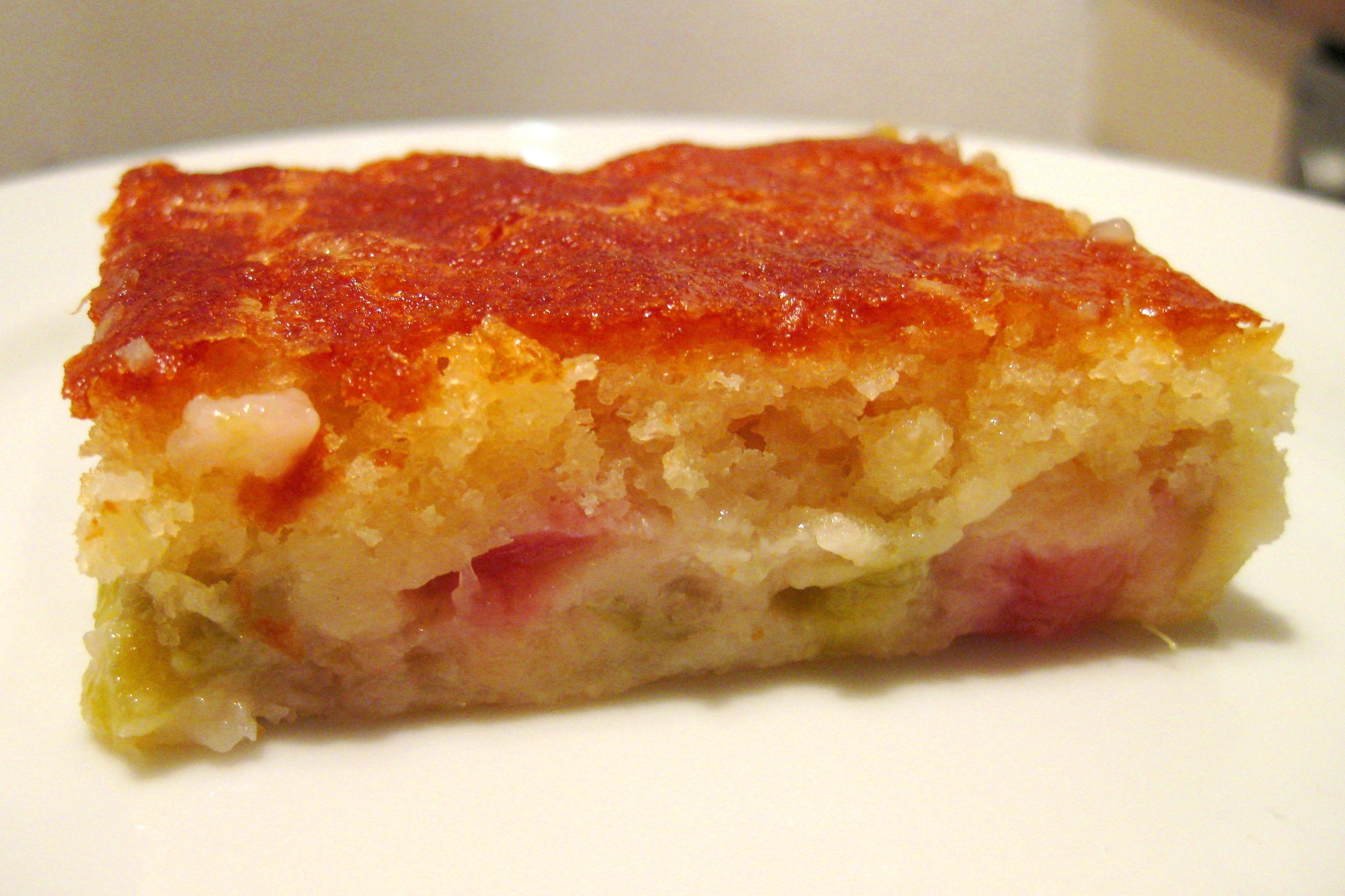 Rhubarb Custard Cake Easy